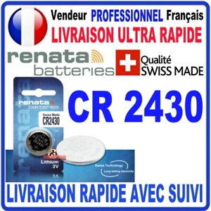 Pile CR2430 Lithium 3V RENATA Pile bouton QUALITÉ PREMIUM MADE IN SWISS