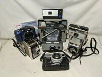 Huge Vintage Camera Lot Kodak Polaroid 230 Minolta  Hi-Matic Untested As Is