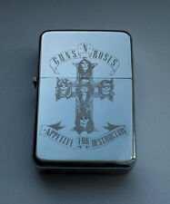 GUNS'N'ROSES - chrome petrol lighter --- [Cd:619.mc-94-lP.] mini poster Axl Rose