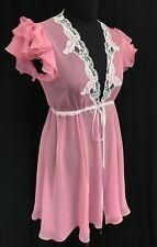 Jane Woolrich Silk short negligee Rose pink