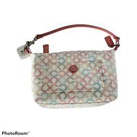 NWT Coach Waverly Pastel Op Art Logo Handbag Purse