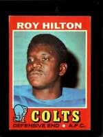 1971 TOPPS #221 ROY HILTON VG+ COLTS  *X3477