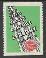 Missouri Pacific Lines Railroad Cinderella Stamp