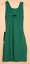 NWT Womens Bebe Green Triangle Key Dress Size Medium, Color PAA $129.00 Retail