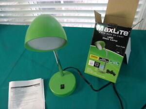 MaxLite LED Desk Lamp USB Charging Port Flexible Neck