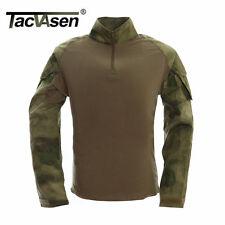 Tacvasen Soldier T-shirts Combat Tactical Long Sleeve T Shirt Fishing Airsoft at 2xl