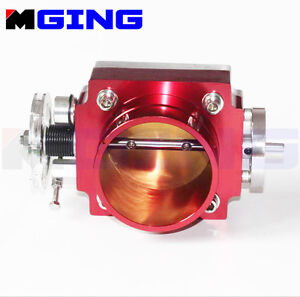 70MM Universal  Throttle Body  High Flow Intake Manifold Billet Aluminum Red
