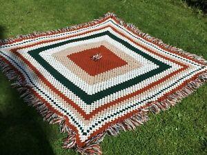 Vintage Crochet Blanket .