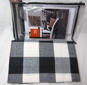 Studio 3B Plaid Black / Ivory Cotton Euro Sham Grant by Kyle Schuneman