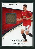 2020 DANIEL JAMES 16/49 JERSEY PATCH PANINI IMMACULATE COLLECTION ROOKIE RC