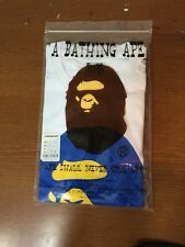 Bape A Bathing Ape Big Head Logo T Shirt White and Blue Large 100% authentic