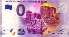29 BREST Musée de la Marine 3, Remparts, 2019, Billet 0 € Souvenir
