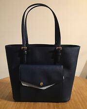 Michael Michael Kors Jet Set Item LG PKT MF Tote Leather Navy bag