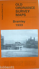 Old Ordnance Survey Detailed Map Bramley Yourkshire 1933 Sheet 217.03 New