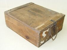 vecchio Scatola munizioni Scatola legno, Cassetta per materiale WK II Wehrmacht