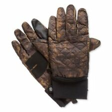 Isotoner Mens Quilted Smart Touch Gloves Brown Camo New Sizew Large-XL New
