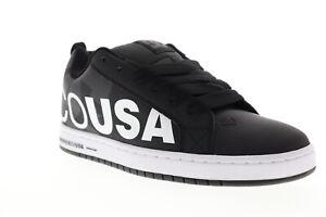 DC Court Graffik Se 300927 Mens Black Skate Inspired Sneakers Shoes