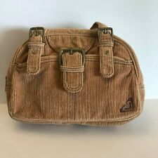 Roxy Corduroy Satchel Bowler Bag Handbag 2 Strap Purse Bag Women's