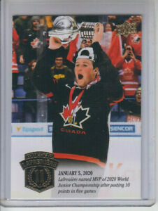 20/21 UD The Alexis Lafreniere Collection New York Rangers Awards RC card #26