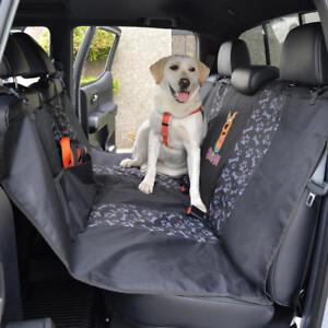 Waterproof Pet Seat Cover Dog Cat Universal Rear Bench for Car SUVs Van Truck