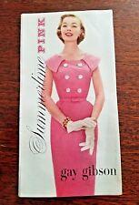 VINTAGE 1950'S GAY GIBSON Summertime Pink Dresses Best Apparel Seattle Brochure