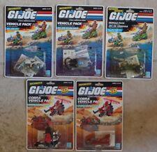 """GI Joe 3.75""""  Vehicle Packs Tank Rocket Sled Gyrocopter Scuba ATV  NEW MOC 1988"""