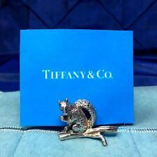 Set of 12 Vintage Rare Tiffany & Co. Sterling Squirrel Place Card Holders