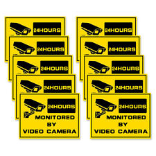 10pcs *  warning stickers  Security sign surveillance for Home/Shop/Business