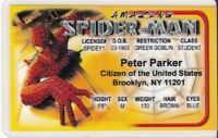 Marvel Comic Superhero The Amazing Spider-man  Drivers License fake i.d. card