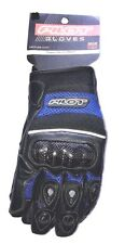 Pilot Super Mesh Motorcycle Glove with Carbon Fiber Knuckles, Blue, XX-Large