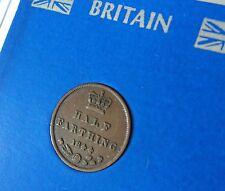 1844 Half Farthing 1/4d Queen Victoria Young Bun Head VF Coin Collector Gift Set