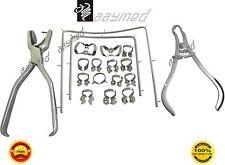 Dental Rubber Dam Kit Set 18 Pieces Dentist Orthodontic Instrument Set Free Ship