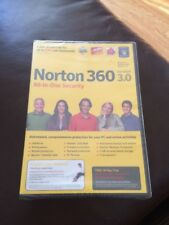NORTON 360 VERSION 3.0 (2009) ALL IN ONE SECURITY WINDOWS VISTA/XP NEW/SEALED