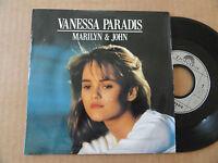 """DISQUE 45T DE VANESSA PARADIS  """" MARILYN & JOHN """""""