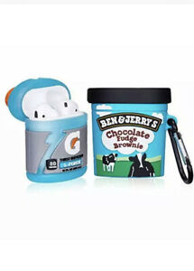 Ben & Jerry's + Gatorade Drink 2pack Silicone AirPods 1/2 Protective Case Cover