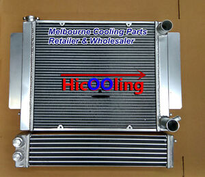 Aluminum radiator + Oil cooler for Mazda RX2 RX3 RX4 RX5 RX7 with heater pipe