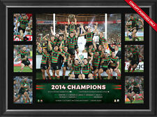 South Sydney Rabbitohs Deluxe Tribute Frame 2014 NRL Premiers Inglis Burgess