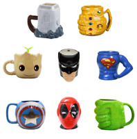 Marvel Avengers Coffee Mugs Ceramic Tea Cups New Batman Thor Super Man Iron Man