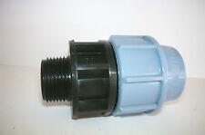 "Raccordo 32x1"" Maschio a compressione per tubi polietilene PP PN16 irrigazione"