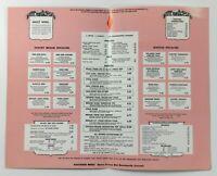 1960's Original Vintage Menu EMBERS Restaurant Washington DC