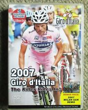 2007 Giro d'Italia World Cycling Productions 3DVD +Milan San Remo DVD Very Clean