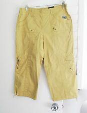 Style&Co. Womens Cargo Capri Pants Light Mango Sz 8 - NWT