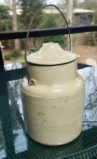 ANTIQUE Stoneware Crock w/Lid THE WEIR Pat March 1st 92-dated April 18th 1901