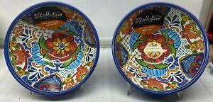 "4 Pcs set  Melamine Blue Bowl Spanish Tile Mosaic New NWT Il Mulino 6"""