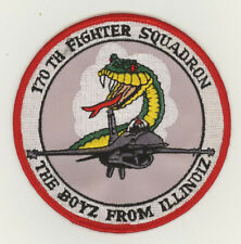 USAF patch 170 Fighter squadron F16C Capital airport ANGS
