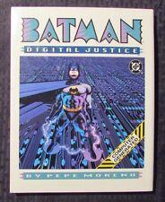 1990 DC Comics BATMAN DIGITAL JUSTICE by Pepe Moreno HC/DJ NM/VF+