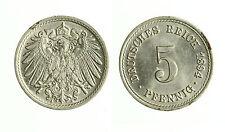 pcc1815_15)  GERMANY - EMPIRE, Wilhelm II, 5 Pfennig, 1894, Berlin