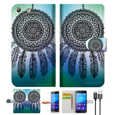 Dream Catcher Wallet TPU Case Cover For Sony Xperia M5 -- A026