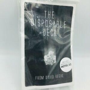 Disposable Deck by David Regal Booklet Magic Card Trick Illusion Close Up
