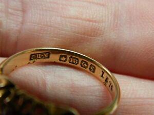 Vintage 18ct Gold diamond & ruby ring jewellery 4.27gms metal detecting detector